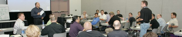Intriguing discussions during InfoComm
