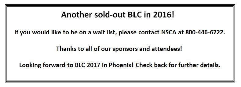 BLC sold out