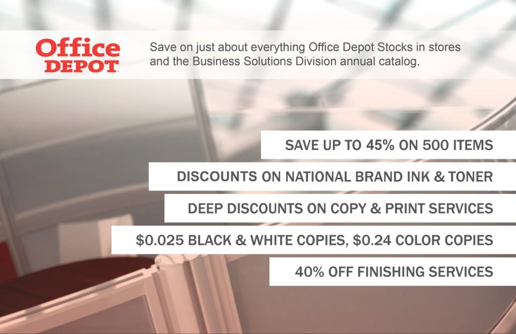 Limit Supply Expenses with Office Depot - NSCA