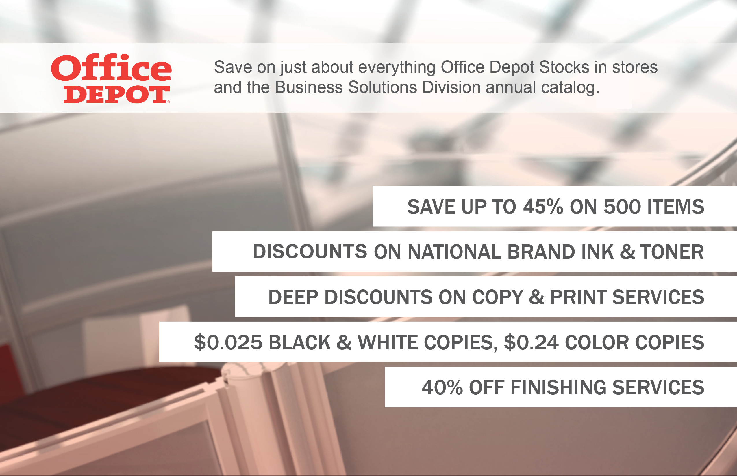 No Matter What Kinds Of Office Supplies Youu0027re Buying U2013 Whether Online Or  In The Store U2013 You Can Get Them At A Lower Cost Through Our Office Depot ...
