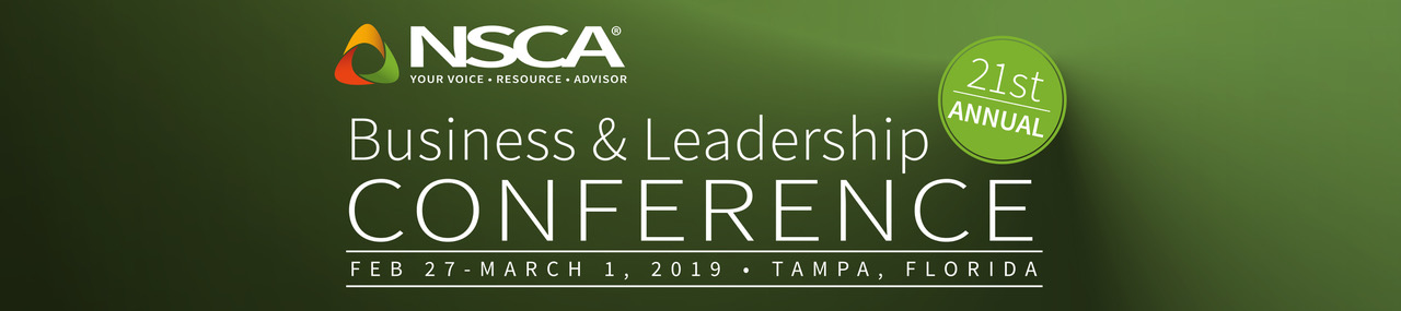 NSCA Business Conference header